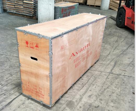 免熏蒸出口可拆御的钢边木箱,时开实业专业生产厂家