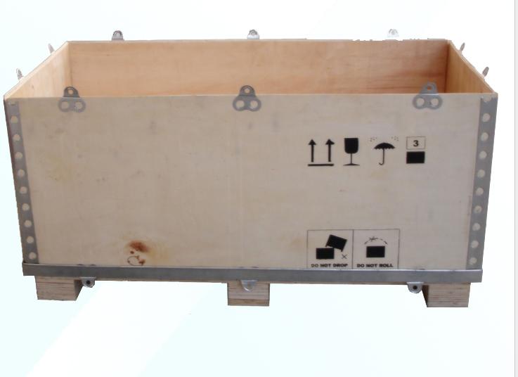 新型无钉木箱--钢边箱